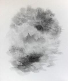 """Katarzyna Adamek """"Hormonogram 216"""" graphite on canvas www.alesztuka.com"""