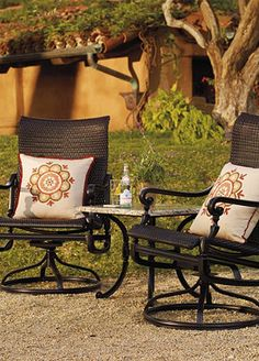 The multipurpose chairs are perfect for taking in the Napa Valley light – spun like gold, mellow as a benediction.