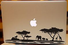 "Africa jungle animals decal macbook decal for Macbook air pro 13"" 15"" 17"" Wild animal theme Laptop skin decal black elephant family giraffe lion silhouette vinyl decal art Decor - Rainbowall Rainbowall http://www.amazon.ca/dp/B00M01HYB0/ref=cm_sw_r_pi_dp_FGUeub0467B98"