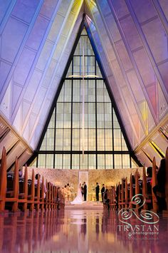 A Wedding at The Air Force Academy Chapel