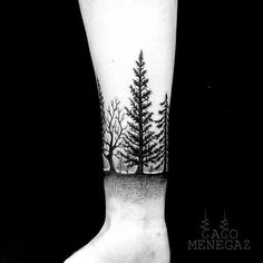70 ideas evergreen tree tattoo ankle for 2019 Trendy Tattoos, Tattoos For Women, Tattoos For Guys, Leg Tattoos, Body Art Tattoos, Tattos, Forrest Tattoo, Hirsch Tattoo, Natur Tattoos