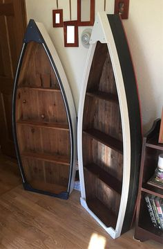 4 foot cedar boat shelf , 3 shelves, 2 tone paint. ($239 for 5 foot + S&H, MESSAGE FOR A QUOTE) 5 foot is maximum length!! Once you order and your payment clears, your boat will be started in about 14-16 weeks. (PLEASE BE AWARE OF ETSYS TIMEFRAME. THEY HAVE A MAXIMUM TIMEFRAME OF 6-8 WEEKS. FOR ME TO MAINTAIN QUALITY, I CANNOT MAKE THE BOATS THAT FAST. THANK YOU FOR YOUR PATIENCE),