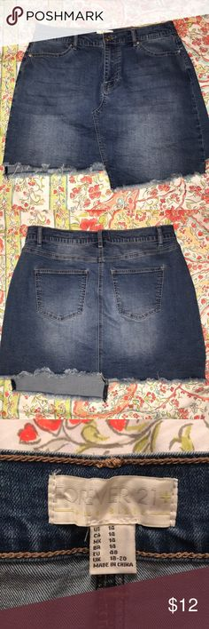 Forever 21 denim skirt Great condition worn a few times Forever 21 Skirts