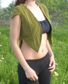Fairy Vest Pixie Vest Forest Vest Elf Vest by Kalbelia on Etsy