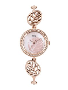 Titan raga pink.... Fancy Watches, Stylish Watches, Fashion Watches, Bracelet Watch, Jewels, Bracelets, Pink, Bags, Accessories