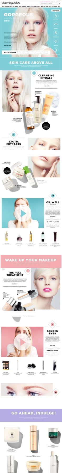 beauty guide. fun colors, images, and type