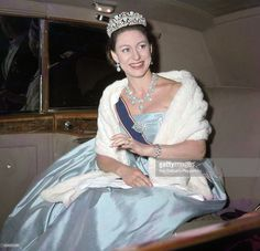 thecourtjeweller:  Princess Margaret arriving at a State banquet at the Australian Embassy in London on 19th May 1966.  (Photo by Ray Bellisario/Popperfoto/Getty Images)