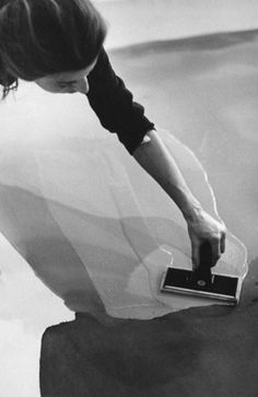 Helen Frankenthaler, 1969, studio shot. This series was featured in Habitually Chic.