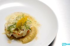 Elizabeth Binder's Seared Scallops with Roasted Fennel, Garlic Puree, Orange, and Olive Salad