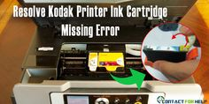 """Get solution for the error message """"Kodak Printer Ink cartridges missing/not installed correctly, or (Error Code 3518) black and color ink cartridges not installed. The solution to this probl…"""