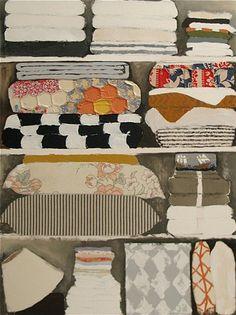Rebecca Rebouche, Linen Closet, 2009  mixed media on canvas