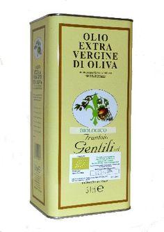 Olio extravergine di oliva Biologico.   Lattina da 5 litri. Questo olio viene estratto a freddo esclusivamente da olive Biologiche, coltivate senza l'uso di pesticidi per garantire la massima genuinità del prodotto.   Certificato da BioAgriCert s.r.l. Certificato di conformità n° 2103/2011 rev. 00