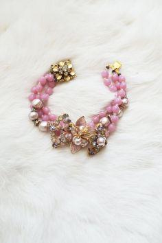 Vintage Haskell Style Pink Baroque Pearl aurora by MirandasBridal