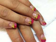 Gel Nail Designs With Yellow Flowers