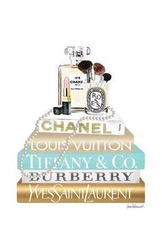 Channel Perfume, Tableau Logo, Canvas Art Prints, Canvas Wall Art, Chanel Wallpapers, Chanel Wall Art, Mode Poster, Megan Hess, Fashion Wallpaper
