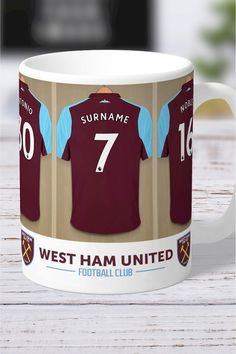 Personalised West Ham United Dressing Room Mug by Personalised Football Gifts