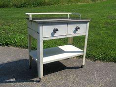 Mid Century Industrial Hamilton Medical Laboratory Cabinet | eBay