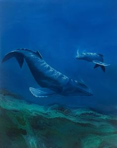 Whales in oil, acrylic and resin Resin Paintings, Whales, Oil, Animals, Animales, Animaux, Whale, Animal, Animais
