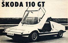 1970 Škoda 110 GT 70s Cars, Mini Trucks, Retro Futuristic, Super Sport, Automotive Design, Car Manufacturers, Illustrations, Sport Cars, Concept Cars