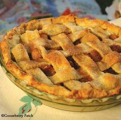 Lattice Topped Cherry Pie