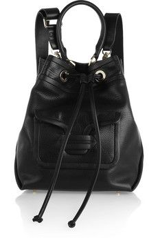 Pierre Hardy Grained-leather shoulder bag | NET-A-PORTER