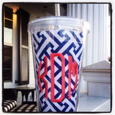 New monogrammed straw cups www.itsagirlthingmonograms.com