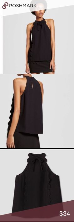Victoria Beckham for target high neck top nwt Size small black tank by Victoria Beckham for target. Polyester. New with tags. Adorable top! Limited edition, her collection sold quick 🍍 Victoria Beckham for Target Tops Tank Tops