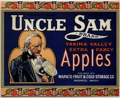 apple crate label