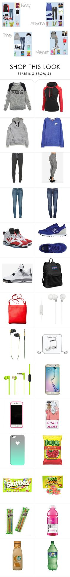 """#463"" by aneysajslexander ❤ liked on Polyvore featuring H&M, NIKE, Superdry, Frame Denim, Nudie Jeans Co., New Balance, Retrò, JanSport, Merona and Sony"
