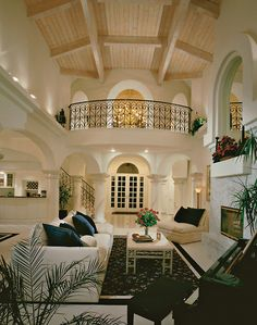 Open, high ceilings. Luxe interior.