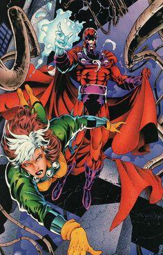 Rogue and Magneto by Salvador Larroca and Steven Jorge Segovia