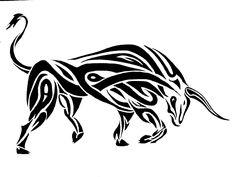 Tribal bull tattoo Wallpaper