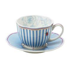 Lisbeth Dahl Stripie Teacup & Saucer