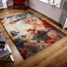 This impressive multicoloured abstract rug is truly a great value for your money...! #multicolouredrugs #modernrugs #largerugs #polypropylenerugs #durablerugs #affordablerugs