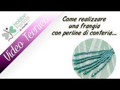 Come fare una frangia con perline | TECNICA - HobbyPerline.com - YouTube
