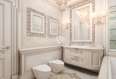 дизайн интерьера санузла Cozy Bathroom, Bathroom Toilets, White Bathroom, Luxury Decor, Luxury Interior Design, Interior Decorating, Dream Bathrooms, Amazing Bathrooms, Powder Room Vanity