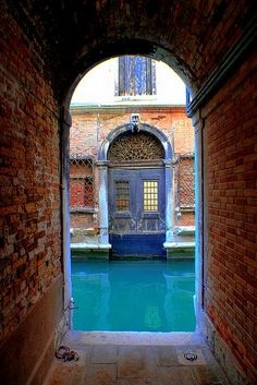 The blue waters of Venice, Italy