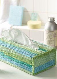Free crochet pattern - tissue box cover