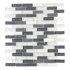Jeffrey Court Silver Tradition Mini Brick 9.75 in. x 11.75 in. x 8 mm Glass Wall Tile-99151 - The Home Depot