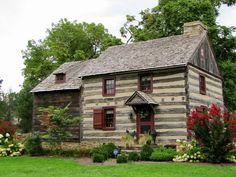 We spent the last few days of our road trip in Pennsylvania Dutch country. Pennsylvania Dutch Country, Log Cabin Homes, Log Cabins, Primitive Homes, Lancaster County, Cabins And Cottages, Cabins In The Woods, Covered Bridges, Farmhouse