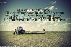 """It's harvest time in this little town."""