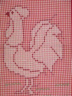 Chicken Scratch Embroidery On Gingham | CHICKEN SCRATCH