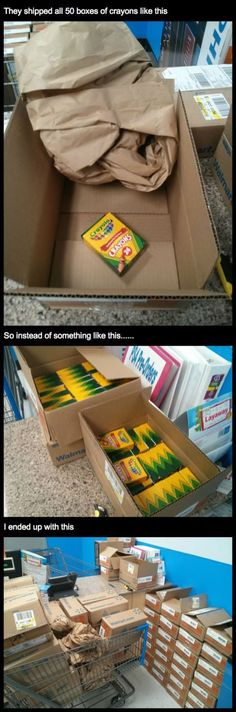 So I ordered 50 boxes of crayons (my family has a art class business)… read the comments