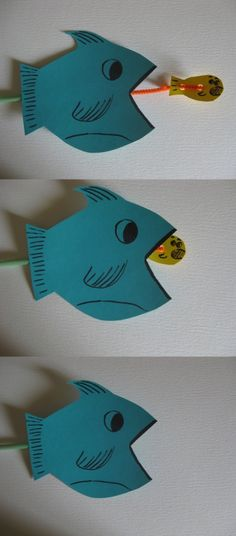 Ugly Fish craft....fun idea, but need cuter fish. straw, pipe cleaner, tape, 2 fish @Rebecca Porter