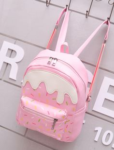 Imagem de pink, bag, and cute Cute Mini Backpacks, Stylish Backpacks, Girl Backpacks, Teen Fashion Outfits, Fashion Bags, Fashion Backpack, Travel Fashion, Fashion Ideas, Kawaii Bags