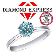 """1.00 Ct Moissanite 14K Gold Solitaire Engagement Ring """""""". Starting at $89"""
