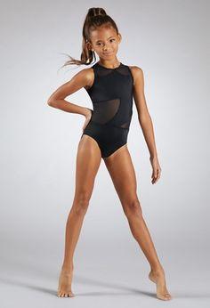 easyforever Kids Girls Ballet Athletics Dancewear Long Sleeves Cutout Back Mesh Splice Jumpsuit Leotard