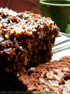 Chocolate Coconut Bread- totally going to google translate this so I can make it! Sweet Recipes, Cake Recipes, Baking With Kids, Polish Recipes, How Sweet Eats, My Favorite Food, Food Inspiration, Baked Goods, Cupcake Cakes