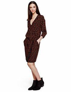 Limited Edition - Rechte jurk met lippenmotief