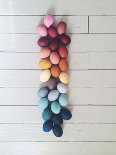 homemade natural dye, naturally dyed, easter eggs : Kirsten Rickert
